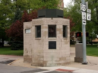 The Historic Goshen Police Booth Marker image. Click for full size.