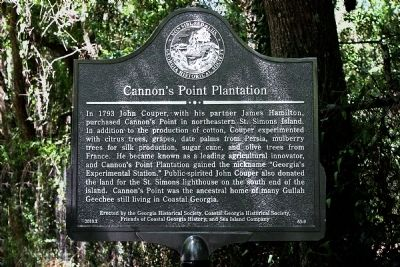 Cannon's Point Plantation Marker image. Click for full size.