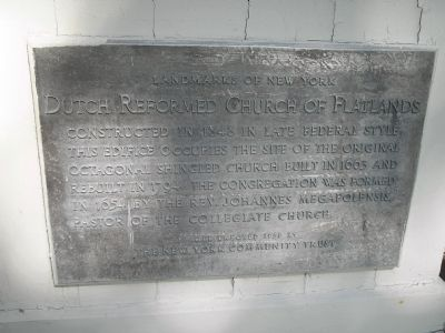 Dutch Reformed Church of Flatlands Marker Photo, Click for full size