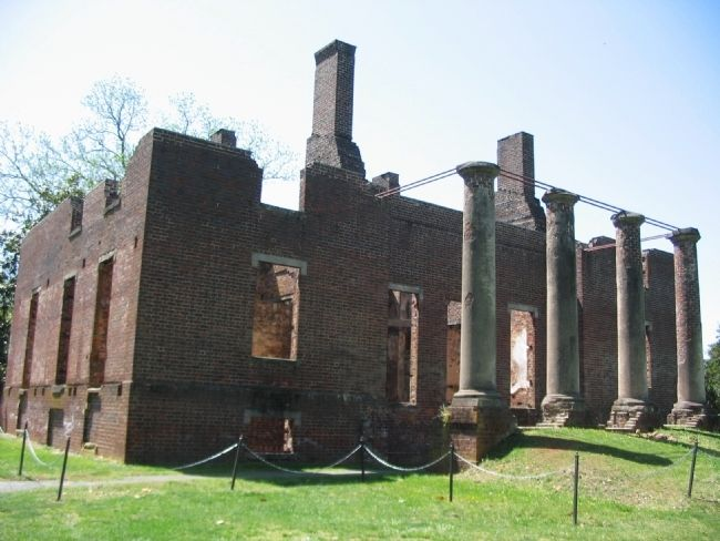 North Side of the Barboursville Ruins image. Click for full size.