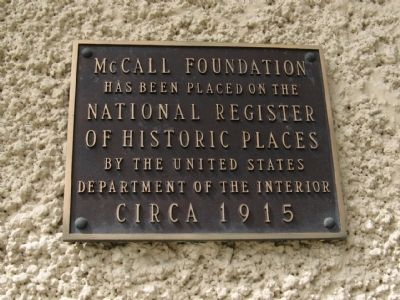 McCall Foundation Marker image. Click for full size.