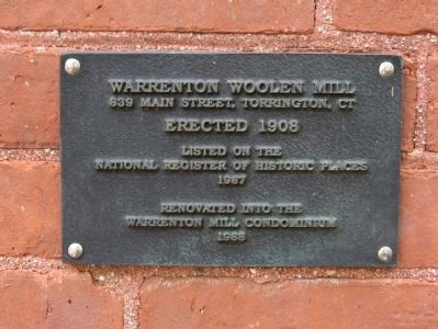 Warrenton Woolen Mill Marker image. Click for full size.