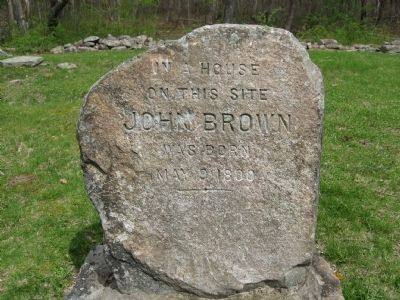 Granite Marker on the Site Photo, Click for full size