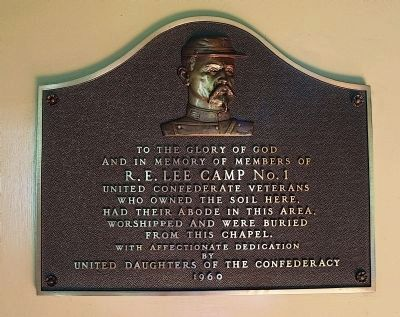 Confederate Memorial Chapel Marker Photo, Click for full size