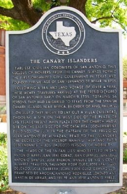The Canary Islanders Marker image. Click for full size.