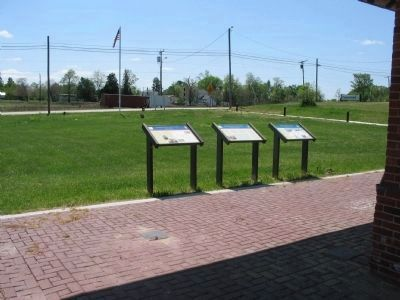 Markers at Burkeville Depot Photo, Click for full size