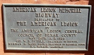 American Legion Memorial Highway Marker image. Click for full size.