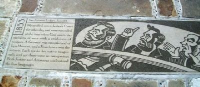Justice's Court Marker image. Click for full size.