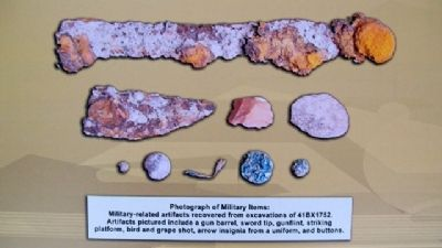 Photo of Military Items on Marker image. Click for full size.