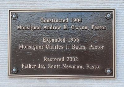 St Mary's Catholic Church South Entrance Dedication Plaque image. Click for full size.