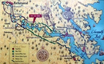 Capt. John Smith's Trail Map image. Click for full size.