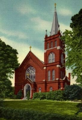 St Mary&#39;s Catholic Church<br>Vintage Postcard image. Click for full size.