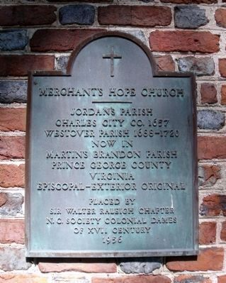 Merchant's Hope Church Plaque image. Click for full size.