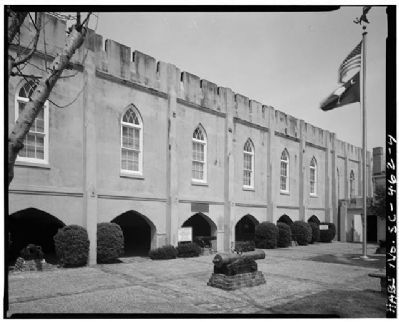 Beaufort Arsenal north side in courtyard image. Click for full size.