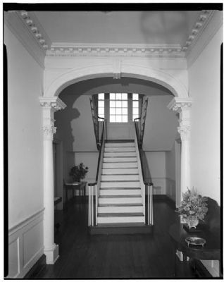 Verdier House stair landing ,first floor, rear image. Click for full size.