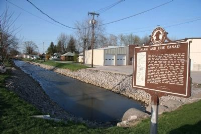 Miami and Erie Canal / Delphos Marker Photo, Click for full size