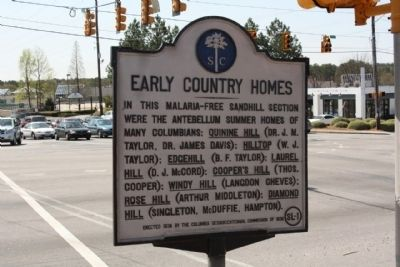 Early Country Homes Marker image. Click for full size.