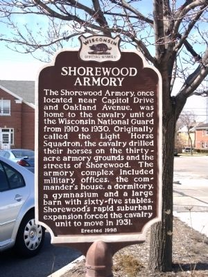 Shorewood Armory Marker image. Click for full size.