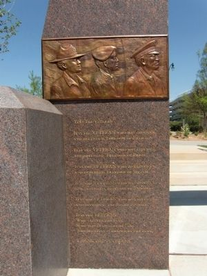 Western North Carolina Veterans Memorial Marker - west panel inscriptions image. Click for full size.