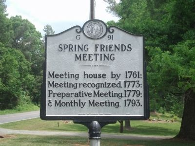 Spring Friends Meeting Marker image. Click for full size.