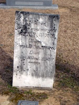 Hinton James Headstone Photo, Click for full size