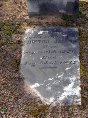 Hinton James Gravestone Photo, Click for full size