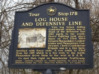 Log House and Defensive Line Marker Photo, Click for full size