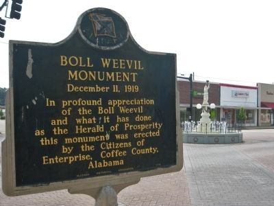 Boll Weevil Monument Marker image. Click for full size.