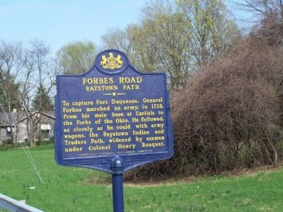 Forbes Road Marker Photo, Click for full size