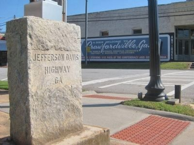 Jefferson Davis Highway Marker in Crawfordville Photo, Click for full size