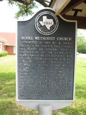 Burke Methodist Church Marker image. Click for full size.