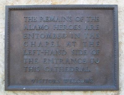 Remains of the Alamo Heroes Marker image. Click for full size.