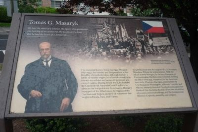 Tom� G. Masaryk Memorial Marker Photo, Click for full size