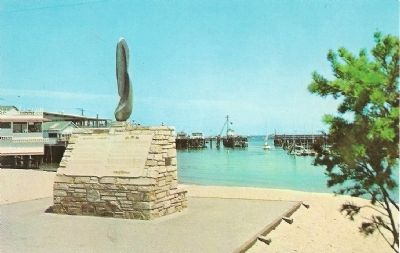 Monterey Harbor Marker - Postcard View (undated) image. Click for full size.