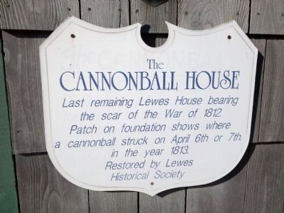 Another Cannonball House Marker image. Click for full size.