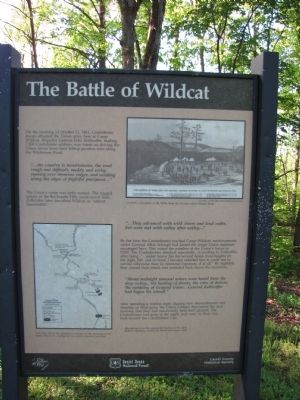 The Battle of Wildcat Marker image. Click for full size.