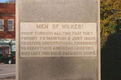 Wilkes County Confederate Memorial Marker image. Click for full size.