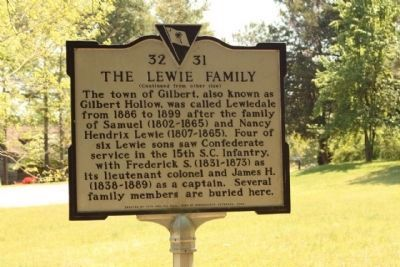 The Lewie Family Marker image. Click for full size.