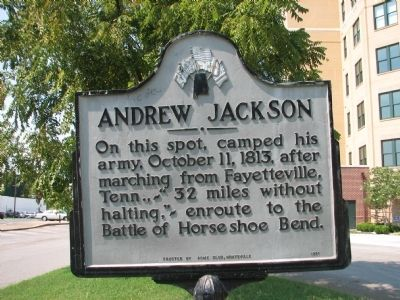 Andrew Jackson Marker Photo, Click for full size