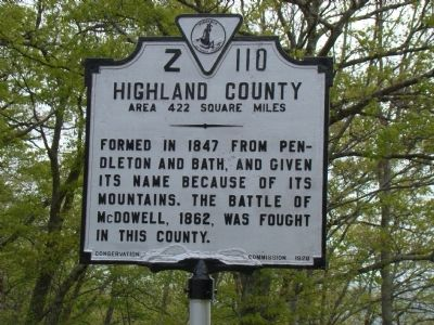 Highland County Face of Marker image. Click for full size.