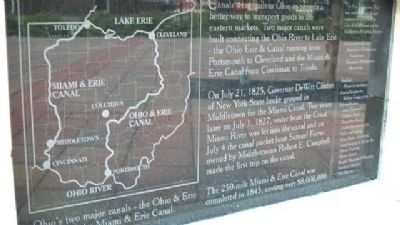 Ohio Canals Marker image. Click for full size.