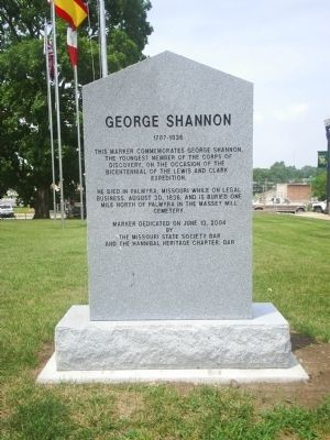 George Shannon Marker image. Click for full size.