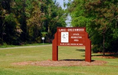 Lake Greenwood State Recreation Area Sign image. Click for full size.