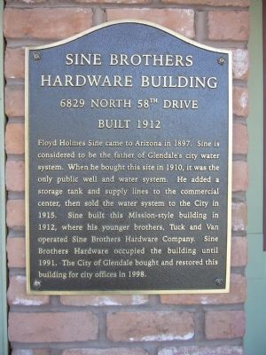 Sine Brothers Hardware Building Marker image. Click for full size.