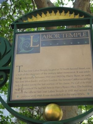 Labor Temple Marker image. Click for full size.
