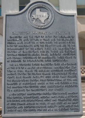 Galveston Immigration Stations Marker image. Click for full size.