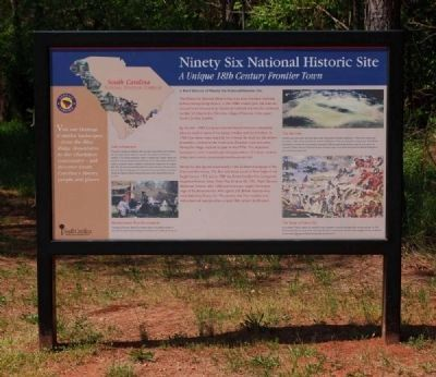 Ninety Six National Historic Site Marker -<br>Current Location image. Click for full size.