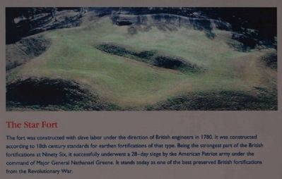 Ninety Six National Historic Site Marker -<br>The Star Fort image. Click for full size.