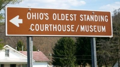 Ohio's Oldest Standing Courthouse Marker image. Click for full size.