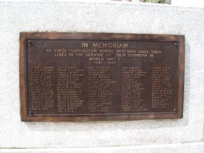 World War II Dead Plaque image. Click for full size.